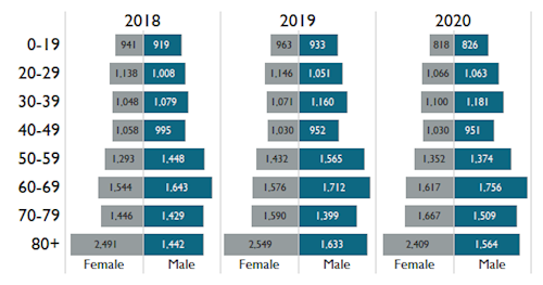 Age of Patients by Year